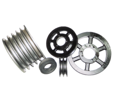 Sheaves and Pulleys, available in all sizes and forms, metric as well as inch sized