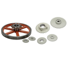 Sprockets and gears available in all sizes and forms, metric as well as inch sized